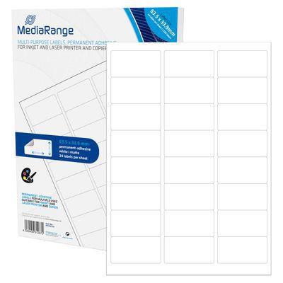MediaRange MRINK150 Etiketten wht 63,5x33,9mm