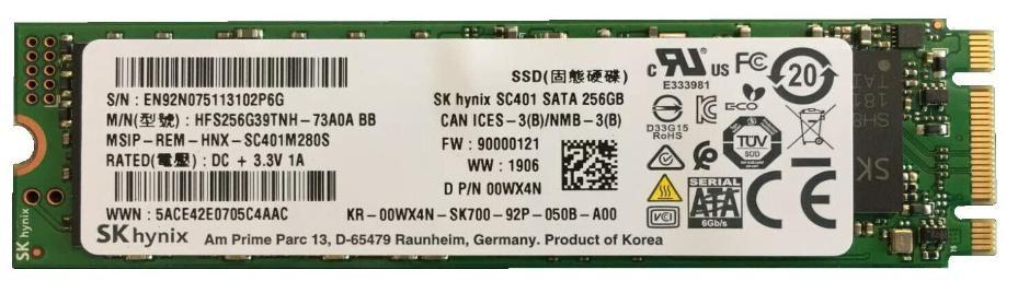 Dell YJTFW W125723582 256GB, SSD, SATA3, M.2,