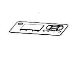 Zebra P1080383-237 W125652780 Kit, Nameplate with LCD,