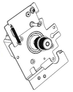 Zebra P1083347-018 W125652638 Kit Drive Motor with Pulley