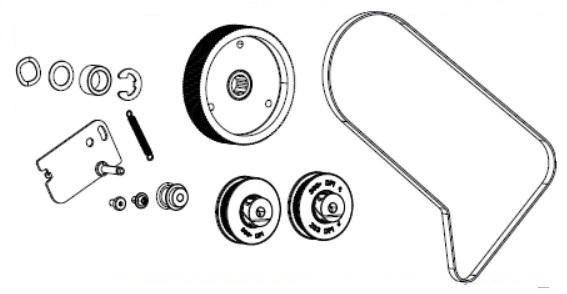 Zebra P1083347-019 W125652637 Kit Rewind Drive System
