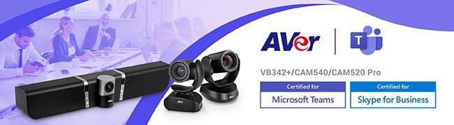 AVer VB342+ USB Conference Soundbar, 4K USB with Camera and huddlerooms - Teams Certified - W125227090