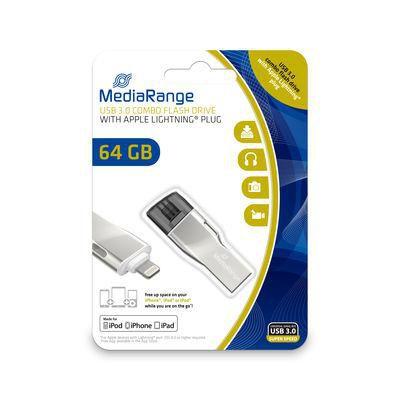 MediaRange MR983 USB-Stick 64 GB USB 3.0 combo