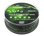 MediaRange MR403 16x DVD-R 25 TUB