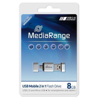 MediaRange MR930 USB-Stick 8GB USB 2.0 OTG