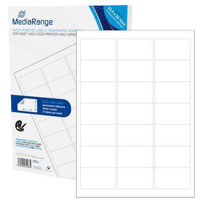 MediaRange MRINK148 Etiketten wht 63,5x38,1mm