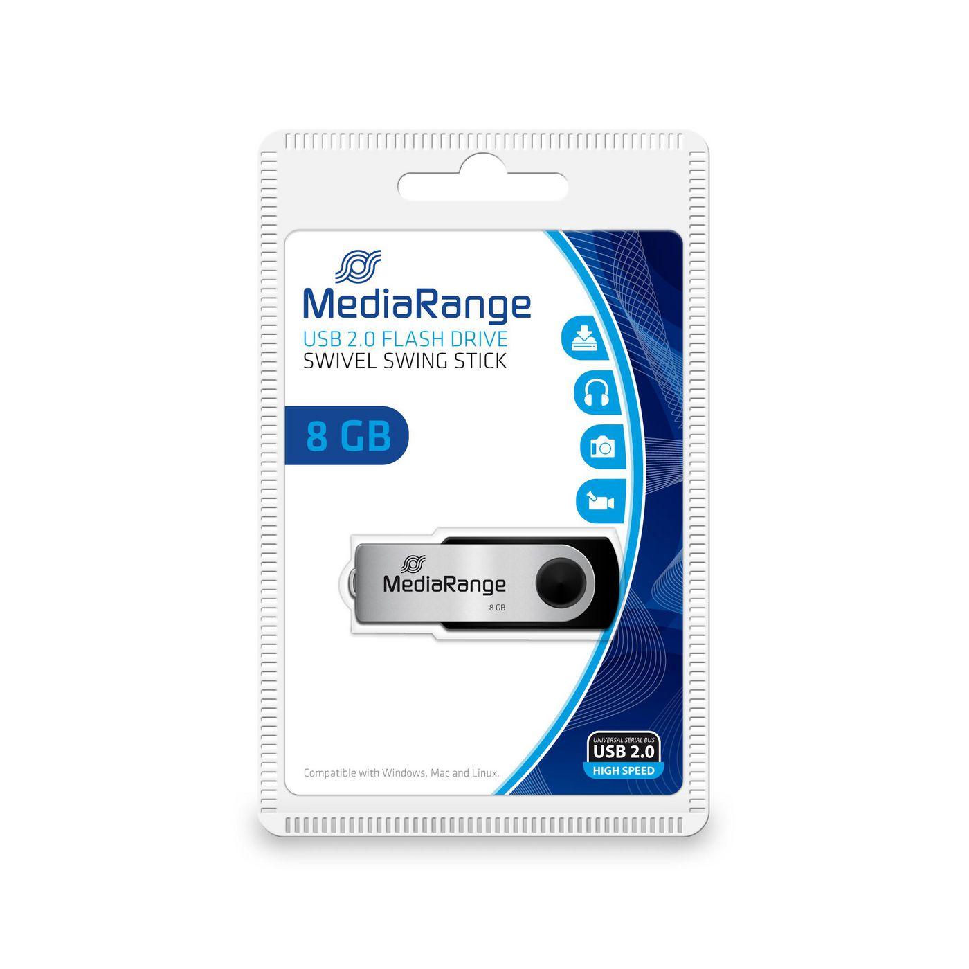 MR908 8GB MediaRange USB 2.0 Flexi