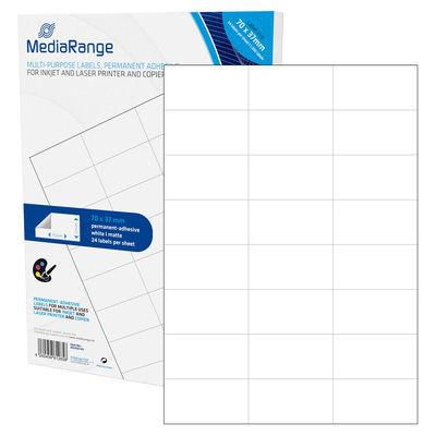 MediaRange MRINK149 Etiketten wht 70x37mm