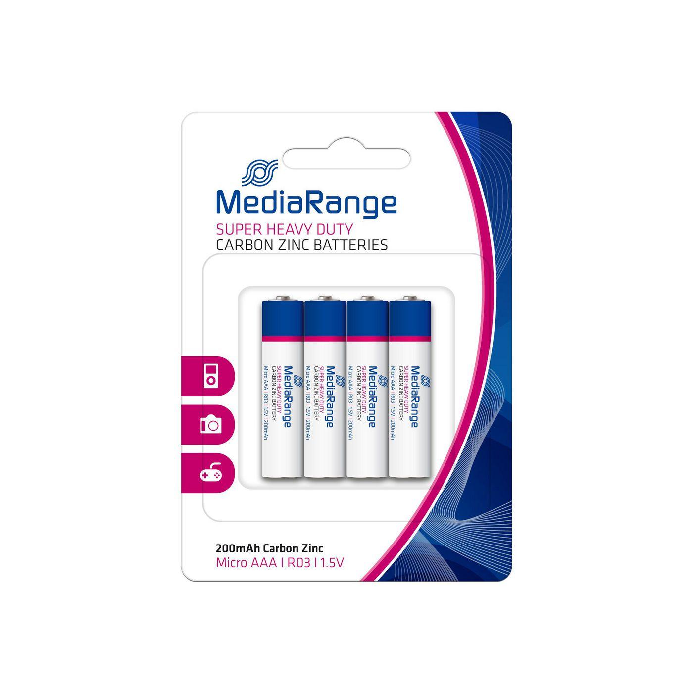 MediaRange MRBAT141 Battery micro AAA Carbon-Zink