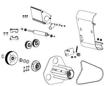 Zebra P1083347-021 W125652636 Kit Media Rewind Upgrade ZT510
